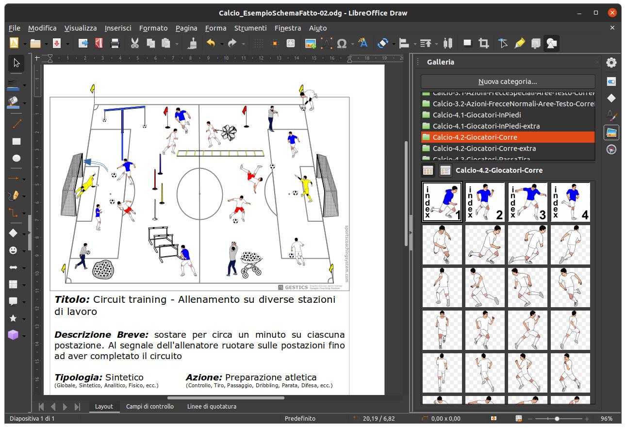 Gestics calcio for Programma di disegno software